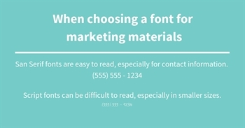 choosing a font for your marketing materials